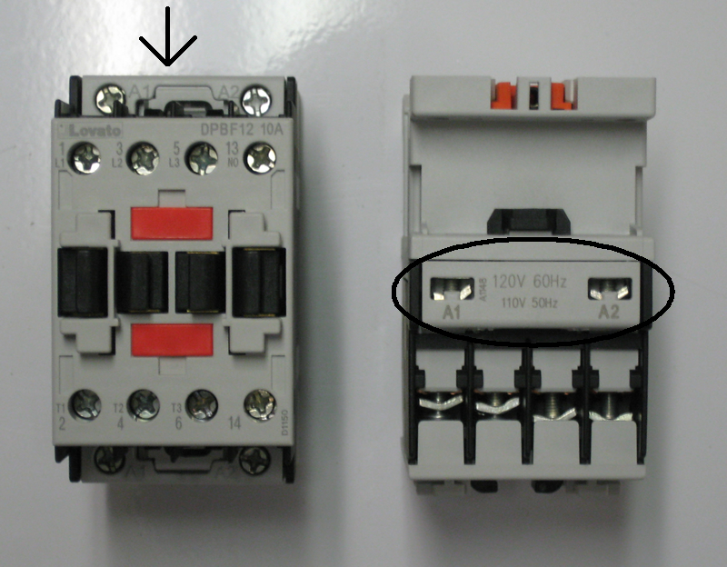 Lovato bf3200a12060 3 pole contactor connecting cables can be coupled to the coil both on the line and load ends of the contactor asfbconference2016 Choice Image